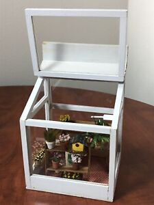 "Dollhouse Miniature Room Box ""Garden Center"" Beautiful Hand Crafted Artist 1:12"