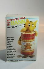 New listing Vintage Keep Your Paws Off My Bank With Suction Kitty.