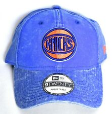 NEW YORK NY KNICKS New Era Adjustable Hat/Cap Blue 9Twenty NBA >NEW<