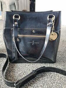 Jasper Conran Faux Leather Black Patent Hand Shoulder Bag New