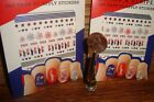 2 Sheets  298 Nail Stickers / NAIL STICKERS Star  Stripes Assorted Stickers