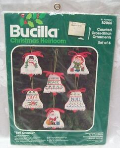 Unopened New Bucilla Heirloom Christmas Bell Chimes Counted Cross Stitch Crafts