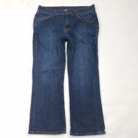 Garnet Hill Capri Cropped Jeans Womens Petite Size 4 4P Dark Wash Denim Pants