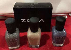 Zoya NEW Pixie Dust Nail Polish Set of 3 , NYX ZP660, London ZP661, Godiva ZP658