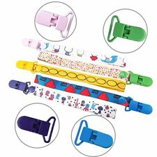 10Pcs Colorful Plastic Suspender Soother Pacifier Holder Dummy Clips For Babys