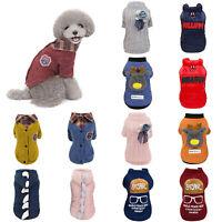 Pet Dog Cat Lapel Sweater Winter Keep Warm Puppy Kitten Costume Clothes Coat