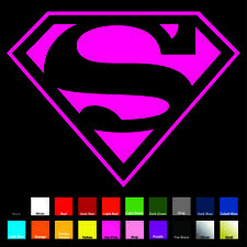 Supergirl / Superman OL Decal / Sticker - Choose Color & Size - Justice League
