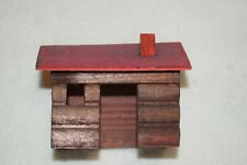 Vintage Putz Germany Wood Log Cabin