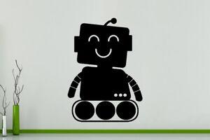 Robot Cartoon Máquina Infantil Pared Dormitorio Arte Pegatina Imagen Afiche