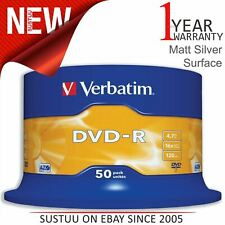 Verbatim 43548 4.7GB 16x DVD-R Matt Silver - 50 Pack Spindle