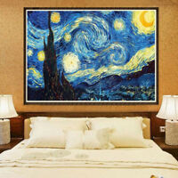 Perfect Gift!Van Gogh Starry Night DIY 5D Diamond Painting Embroidery Decor