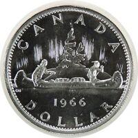 """1966 $1 CANADA SILVER DOLLAR  BU/UNC """"PROOF LIKE"""" FANTASTIC EYE APPEAL (102920)"""