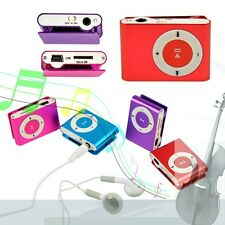 Mini Clip-on MP3 Player with Micro TF/SD Slot Portable Metal USB 2.0