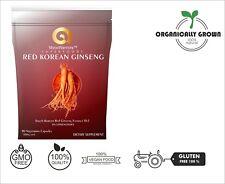 Extracto de raíz de ginseng rojo de Corea del Sur 10:1 (panax ginseng) X90 cápsulas vegetarianas saponinas