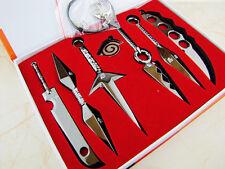 Naruto Blade Keychain Kunai Sword Shuriken Knife Pendant Cosplay Props NO BOX