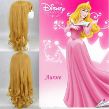 Sleeping Beauty Disney Aurora Princess Beautiful Blonde Curly Cosplay Wig