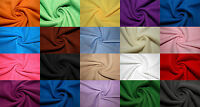 """Polar Fleece Fabric Solid 46 Color Anti-Pill 58""""-60"""" Soft Baby Blanket Craft BTY"""