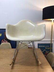 Original 1960's HERMAN MILLER Alexander Girard  Zenith Fiberglass Rocking Chair