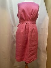 Laura Ashley Pure Linen - Coral Summer Dress - Size 18 - BNWT