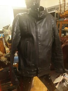 Motorcycle R Jays Mens black leather jacket,  preowned