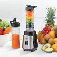 Personal Smoothie Blender Juice Shakes Mixer 2 Travel Bottles 300W BPA-Free