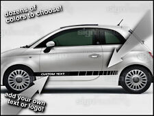 2011 and up Fiat 500 Custom Vinyl Decal Graphics Rocker Racing Side Stripes #4