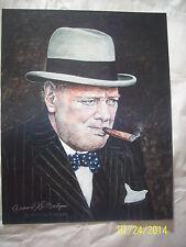 Winston Churchill Armand Lamontagne signed in silver print 2014 United Kingdom