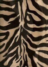 Animal Print faux Fur/Velour velboa Fabric - Striped Antelope - FREE UK P&P