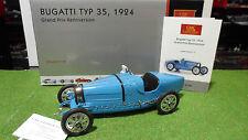 BUGATTI TYP 35 de 1924 Grand prix Rennversion bleu 1/18 CMC M-063 voiture miniat