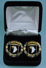 101st Airborne Division Wreath Army Cuff Links in Presentation Gift Box cufflink