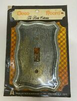Vintage Antique Brass Deco Room Single Light Switch Wall Plate Cover NIP