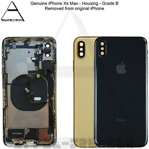 Genuine Apple iPhone Xs & Xs Max REAR BACK CHASSIS HOUSING WITH PARTS GRADE B