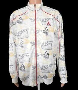 Jordan Basketball Nike Zippered Jacket Sneaker Print Size XL Men's AJ Revolution