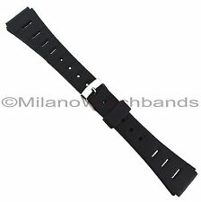 19mm Flex-On Black Rubber Ladies Long Sport Strap Watch Band BUY 1 GET 3 FREE