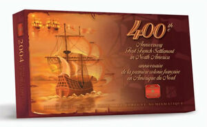 2004 Canada Proof Set, 400th Anniversary of the First French Settlement