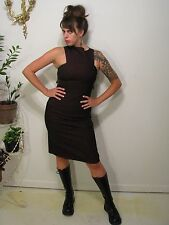 Sexy Cyberpunk Goth Rave Sheath Dress Medium