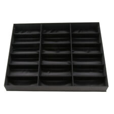18 Slots Eyeglass Sunglasses Display Stand Box Organizer Holder Case Black