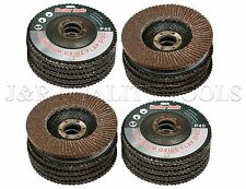 "20 New 4-1/2"" 80 Grit Flat Flap Disc Grinding Sanding Wheels 7/8"" Arbor"