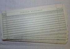 LOT OF 200 Vintage IBM FORTRAN Computer Data Punch Cards - Unused