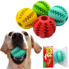 Aggressive Molar Chew Toys for Large Dogs Rubber Ball Food Dispenser &Toothbrush