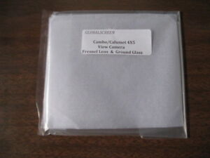 New Cambo/Calumet 4x5 VIew Camera  Fresnel lens and Ground Glass