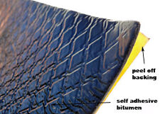 "Automotive ""Bitumen self adhesive""  - Soundproofing Pads  X  1 PADS / T5 / T4"