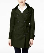 Michael Kors Double-Breasted Hooded Trench Coat BLACK XS NEW MSRP$240