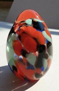 Scultura uovo in vetro soffiato di Murano - usata anche come fermacarte