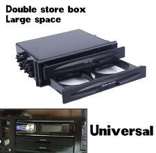 Universal Car Singolo/Doppio Din Radio Tasca Kit Con Bere-Cup Holder Storage Box
