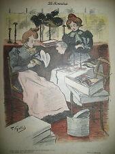 LE SOURIRE N° 7 JOURNAL HUMORISTIQUE DESSINS HERMANN PAUL GOTTLOB FEUILLET1899