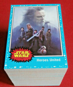 STAR WARS - JOURNEY TO THE LAST JEDI, COMPLETE BASE SET (110 cards) - Topps 2017