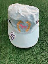 Victoria Secret Prink Strap Back Hat Light Blue Dog