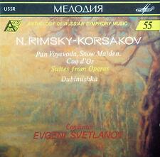 CD RIMSKY-KORSAKOV - pan voyevoda, snow maiden, coq d'or, Svetlanov, Melodiya