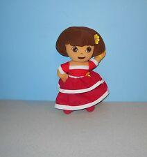 "Nick Jr Dora the Explorer 11"" Christmas Fiesta Red Dress Princess Stuffed Plush"